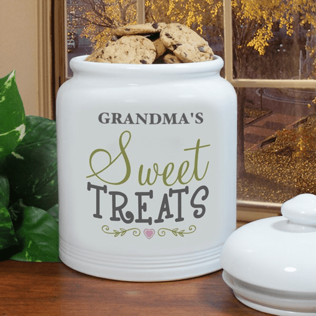 Sweet treats cookie jar for a special grandma.