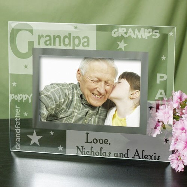 Personalized glass frame special for Grandpa.