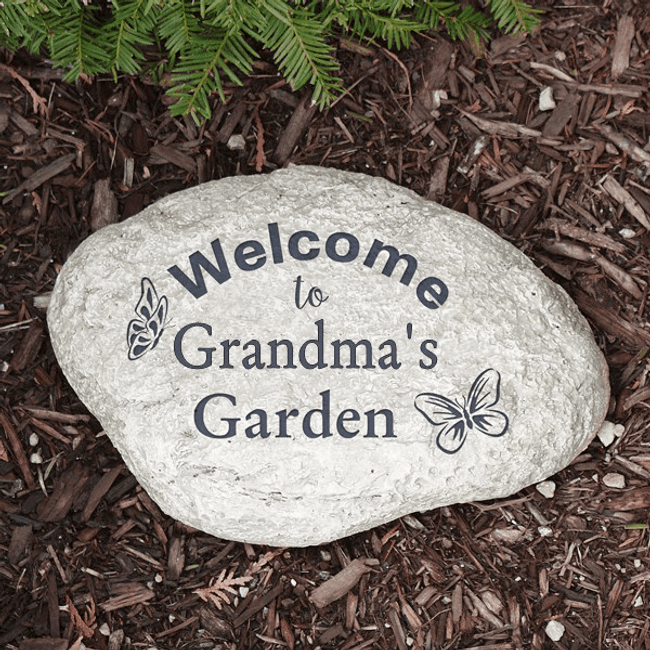 Personalized Butterfly Garden Stone for Grandma
