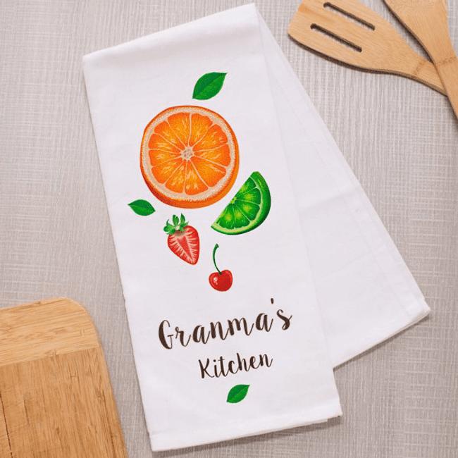 Personalized Fruit Dish Towel for Grandma