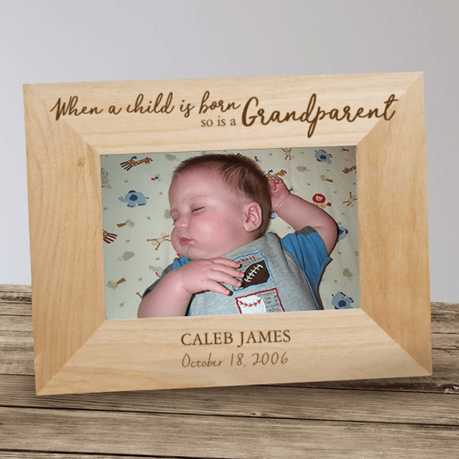 Personalized Grandparent Frame - When a Child is Born