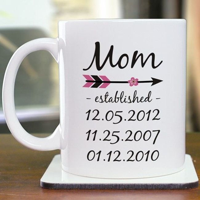 Personalized Mug for Grandma - When was she established as a grandma?