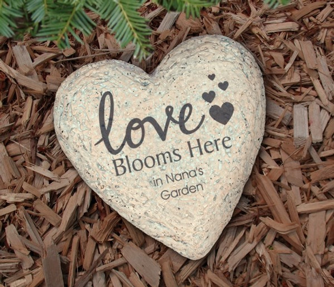 Personalized Garden Stone, Grandma's Love Blooms Here