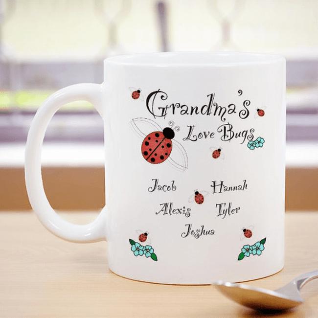 Personalized Mug - Grandma's Love Bugs