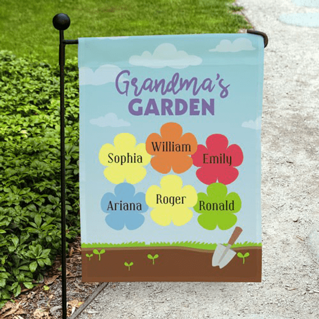Personalized Garden Flag...Just for Grandma