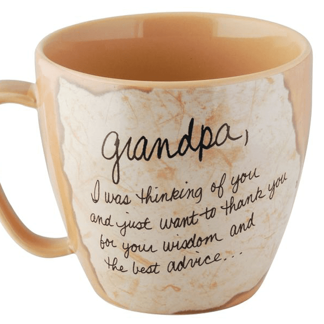 Grandpa cup tell him how much you care.