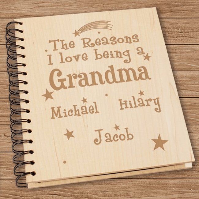 Personalized Brag Book Album - Reasons I Love Being a Grandma