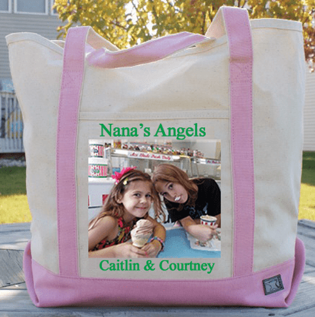 Personalized Photo Tote for Grandma