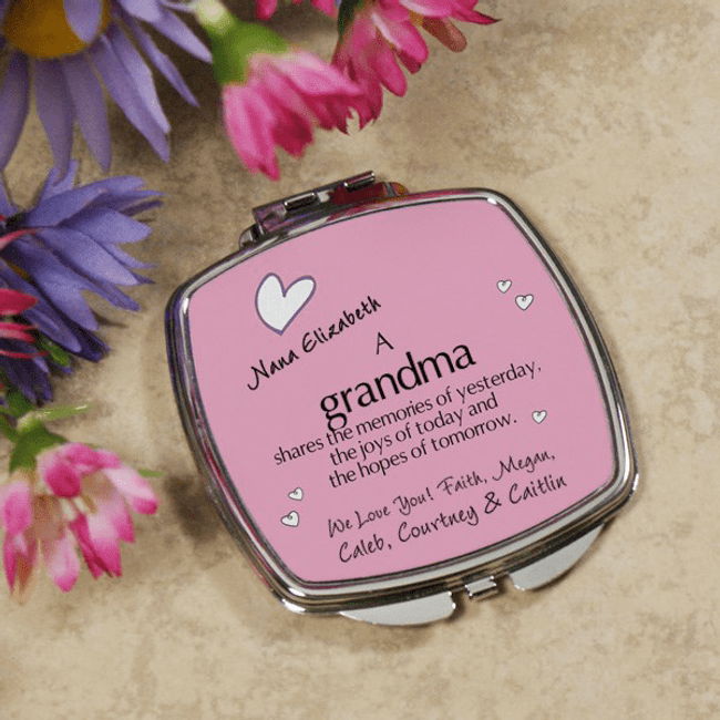 Personalized Compact...just for Grandma! (Pink)