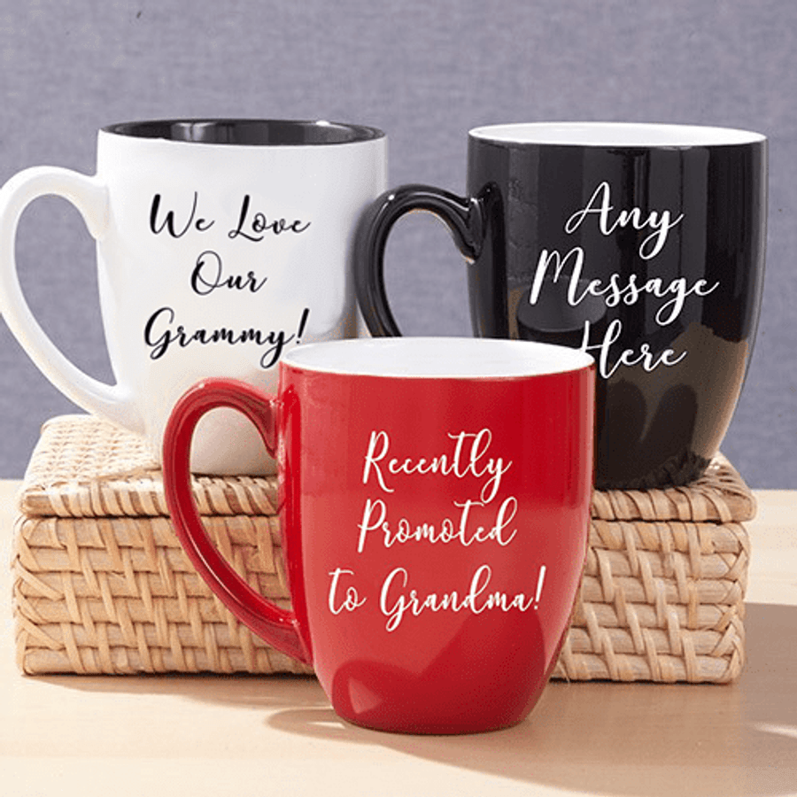 Bistro Mug for Grandma - Red, Black or White