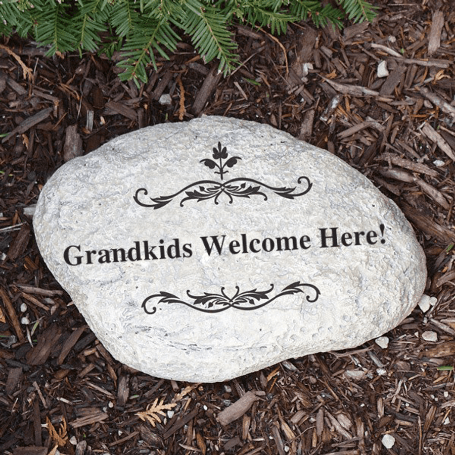 Personalized Garden Stone for Grandma!
