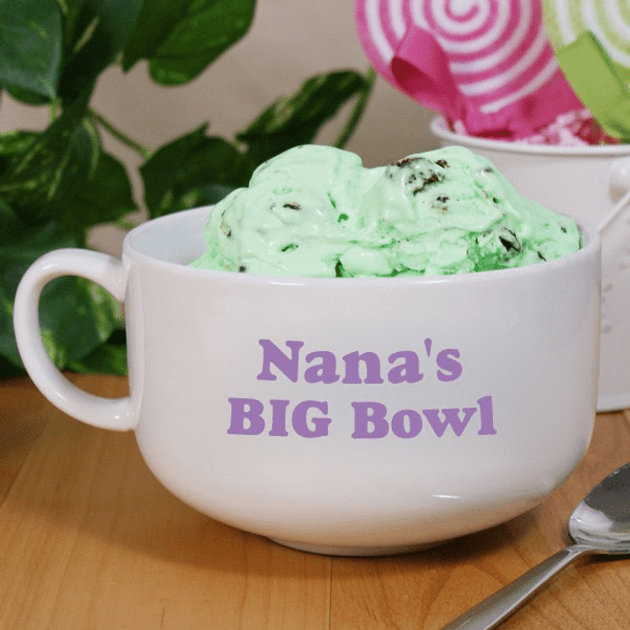 "Personalized ""Big Bowl"" for Grandma"