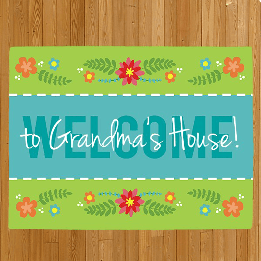 """Personalized Doormat """"Welcome to Grandma's House"""""""