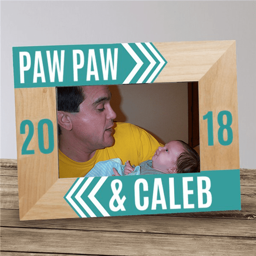Personalized Frame for Grandpa and Me!