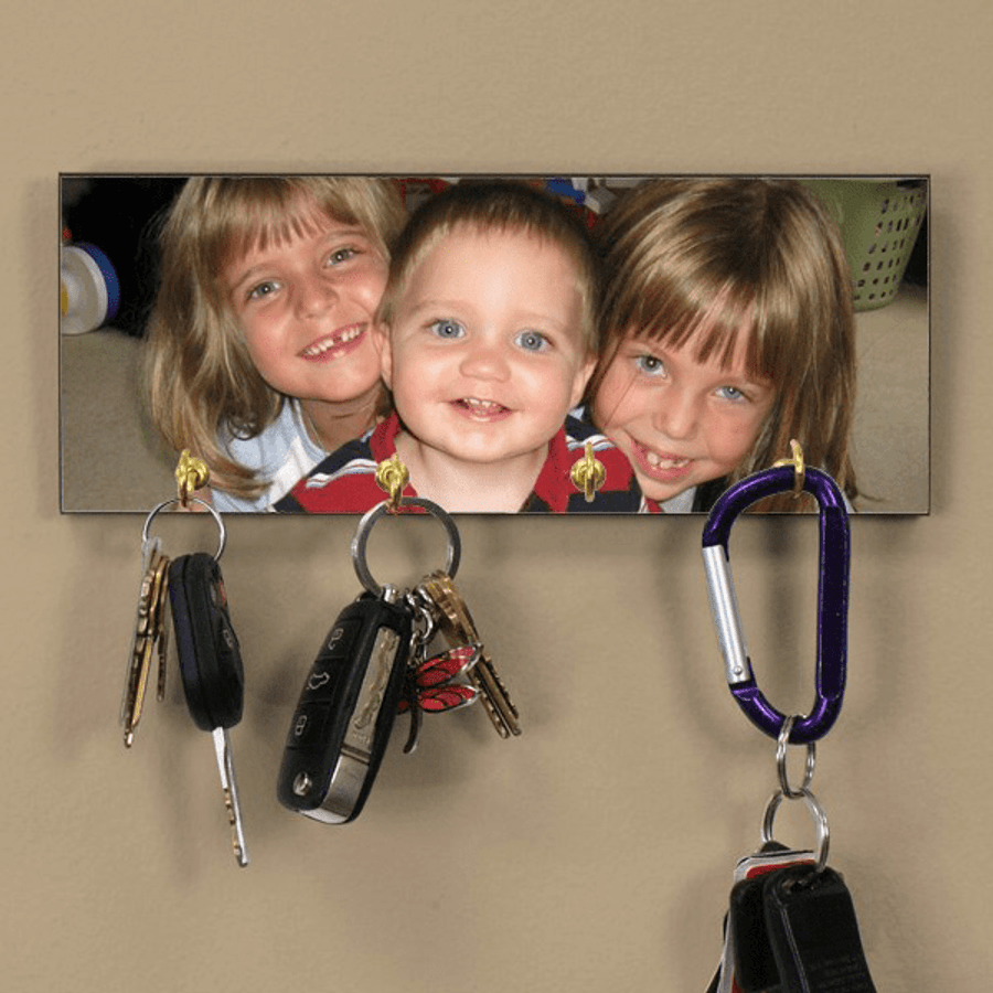 Personalized Photo Key Rack to Delight Grandpa!
