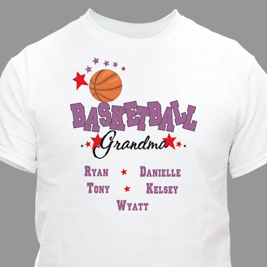 """Personalized """"Basketball Grandma"""" T-Shirt"""