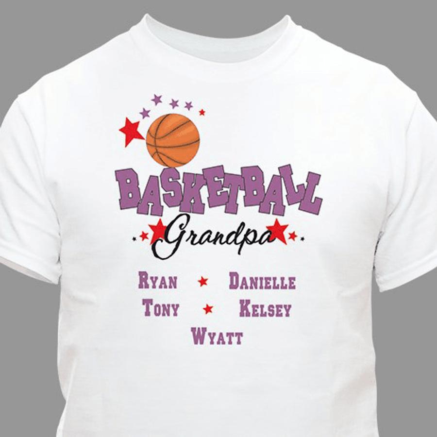 """Personalized """"Basketball GrandPa"""" T-Shirt"""