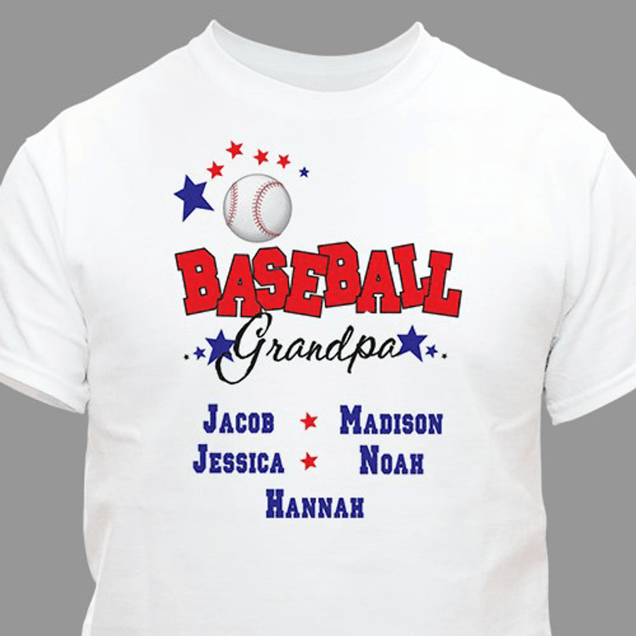"Personalized T-Shirt for a ""Baseball Grandpa"""