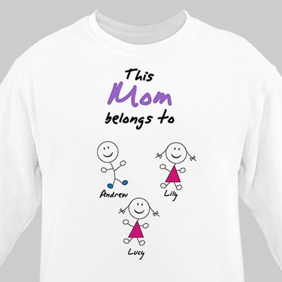 "Personalized Sweatshirt - ""Belongs To"""