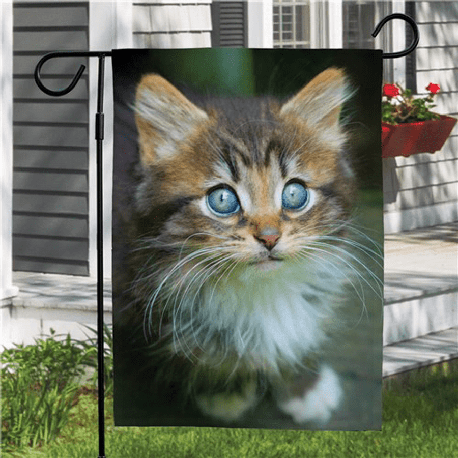 Pet photo garden flag to show off your beautiful cat.