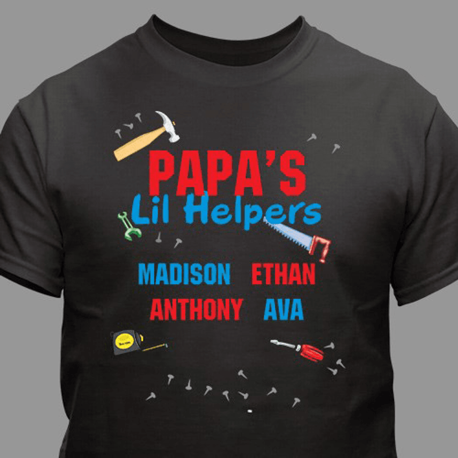 Personalized T-Shirt - Grandpa's Lil Helpers