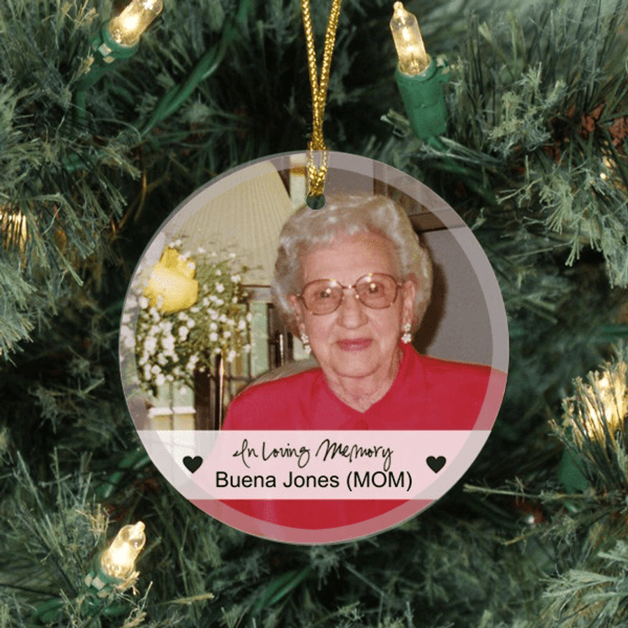 """Personalized """"In Loving Memory"""" Ornament"""