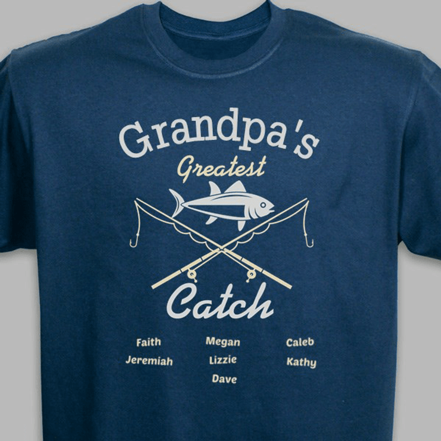 Personalized T-Shirt - Grandpa's Greatest Catch