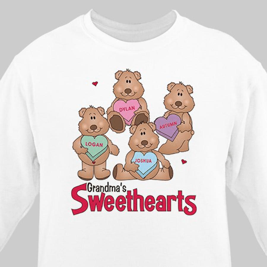 Grandma's Sweethearts - a Beary Cute Personalized Sweatshirt