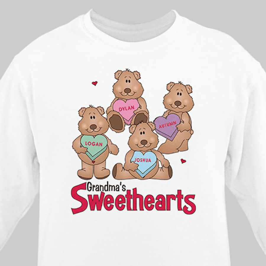 Grandma's Sweethearts - a Beary Cute Personalized Sweatshirt