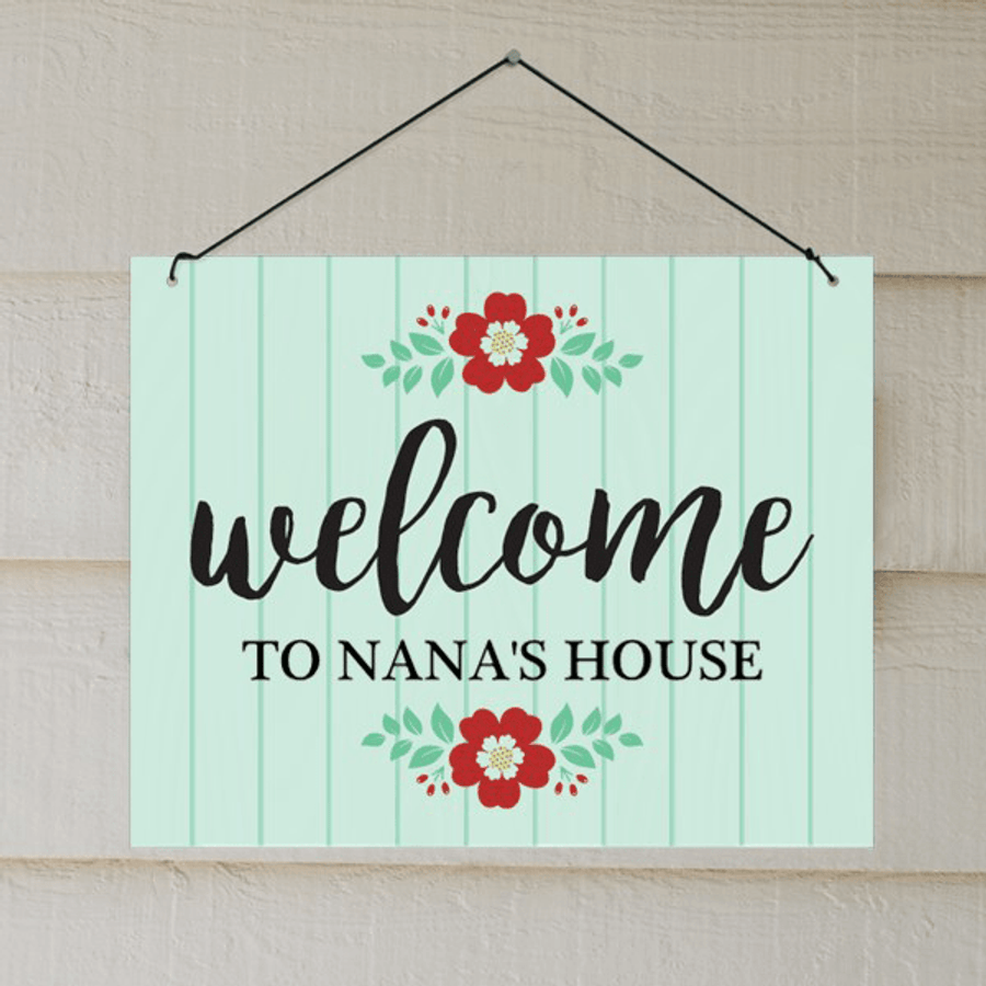 "Personalized ""Welcome"" Wall Hanging for Grandma's Home"