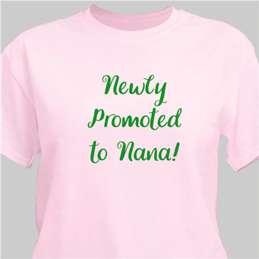 Personalized Grandma T-Shirt with Your Special Message - Pink