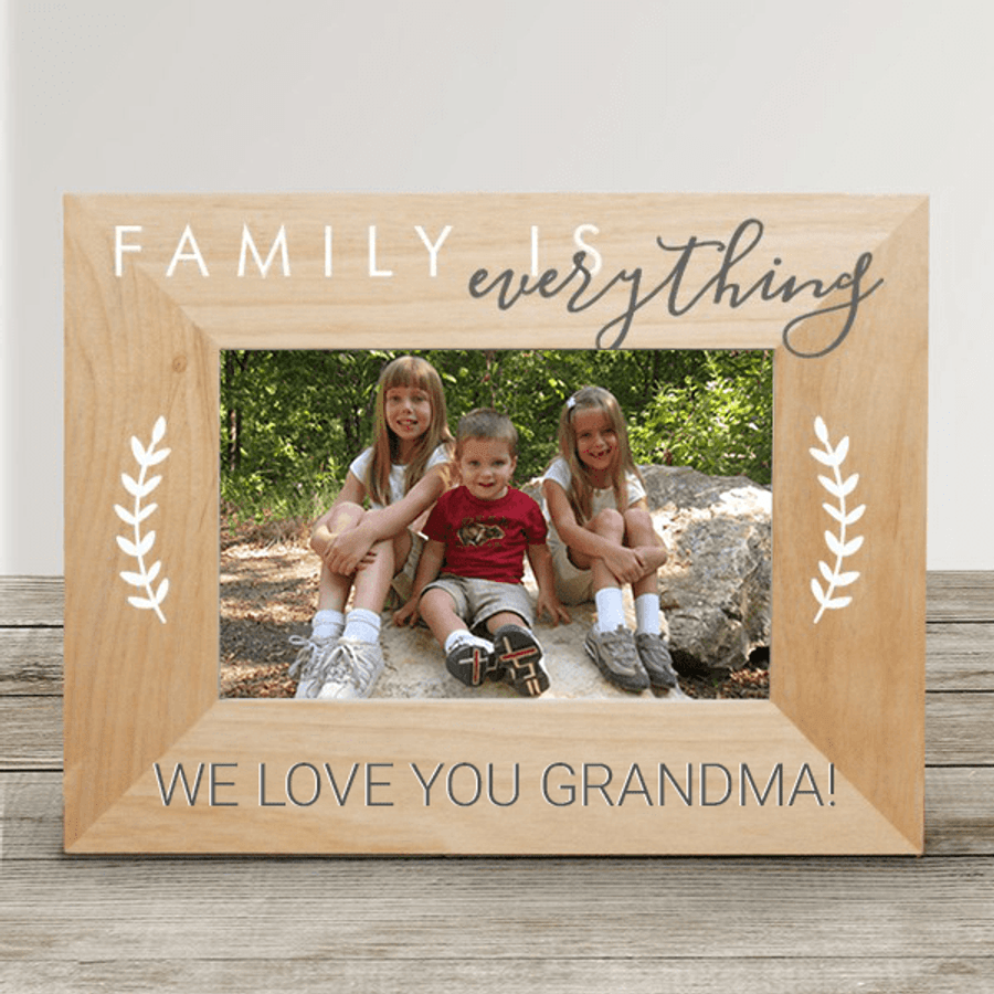 "Personalized Grandma Frame ""Family is Everything"""