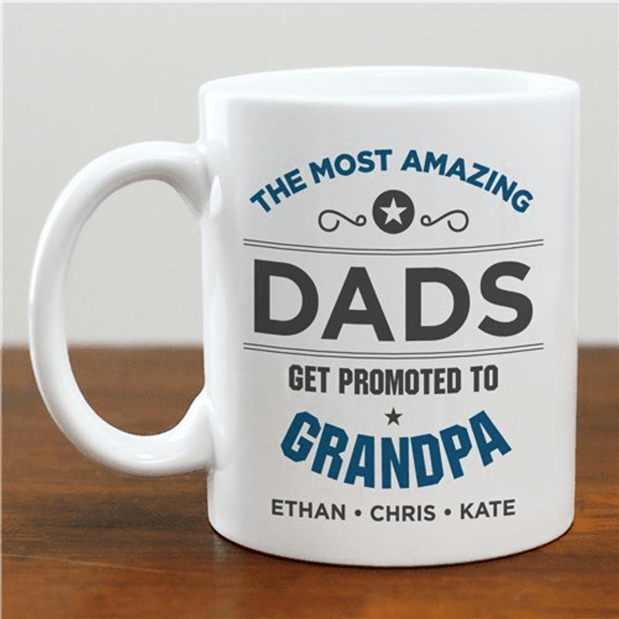 "Personalized Mug ""Promoted to GrandPa"""