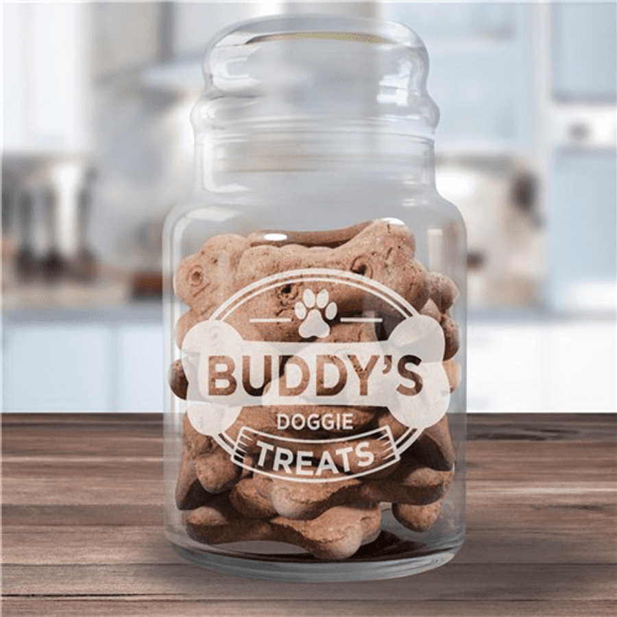 Engraved Glass Jar - For a Special Furry Friend