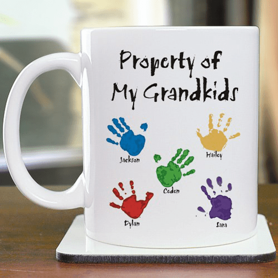 """Personalized """"Property of My Grandkids"""" Mug"""