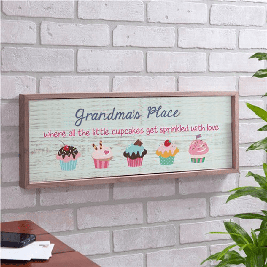 "Personalized ""Sprinkled With Love"" Sign for Grandma"