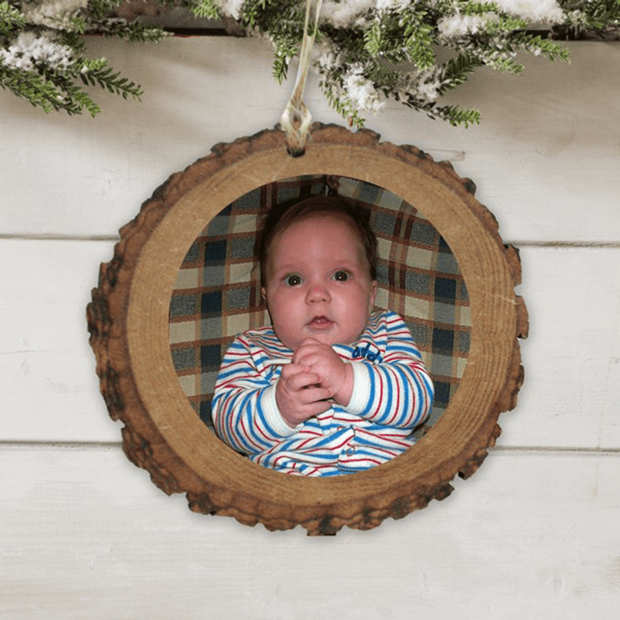 Personalized Wood Photo Ornament...just for Grandma