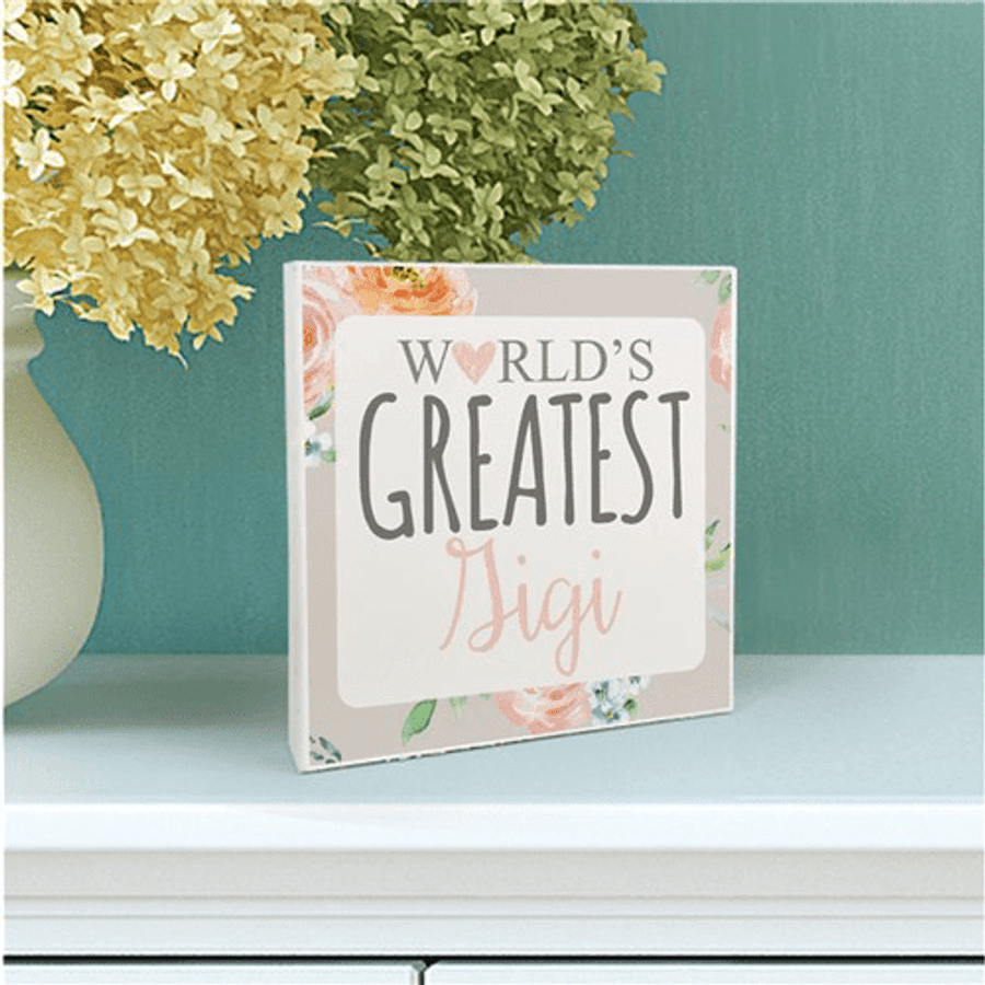 """Personalized Sign for the """"World's Greatest Grandma"""""""