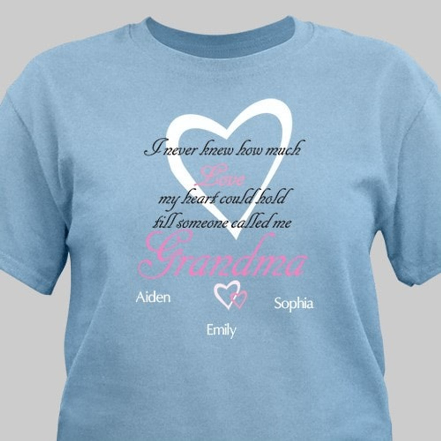 Personalized How Much Love T-Shirt River Blue