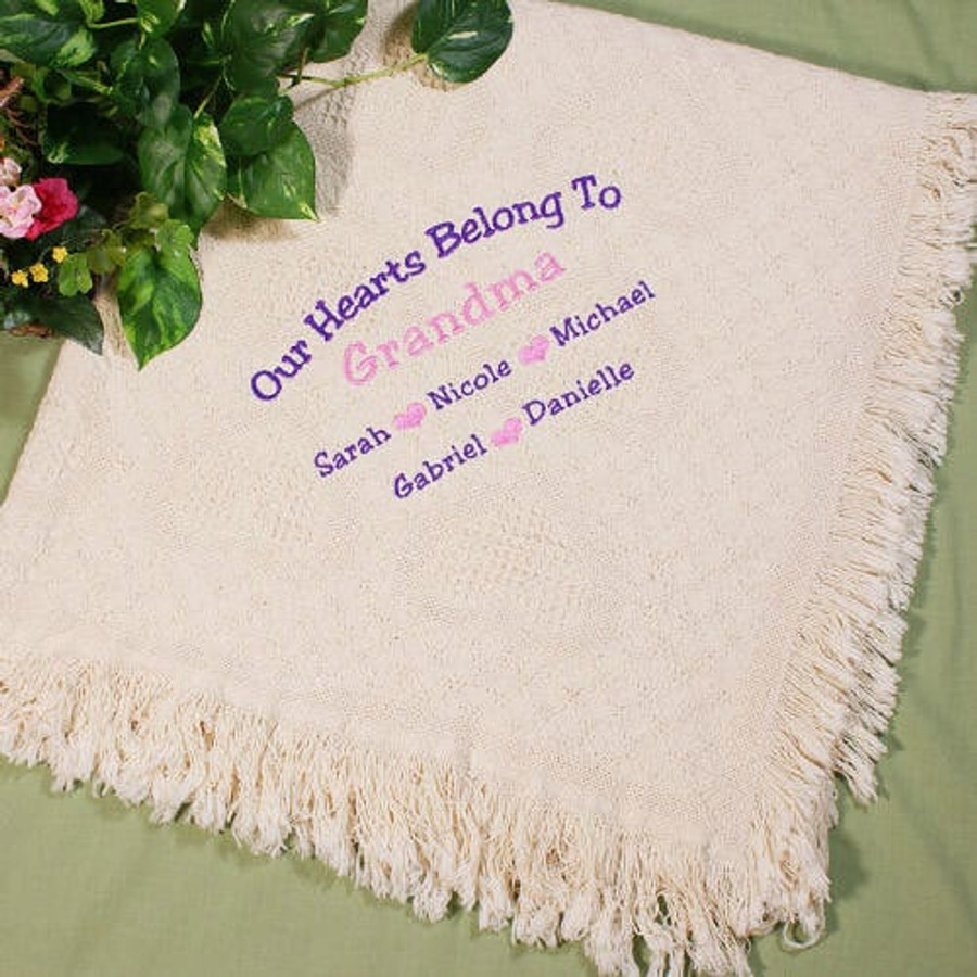 Personalized Afghan, Our Hearts Belong To...
