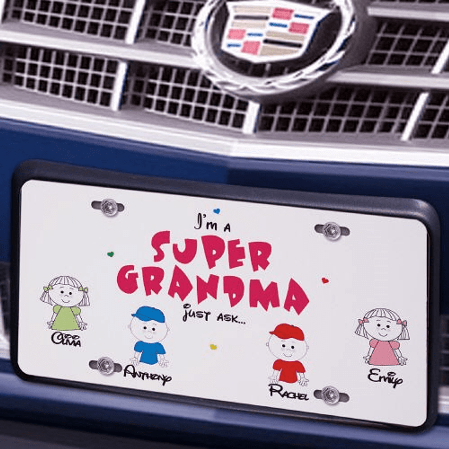 Personalized License Plate for a Super Grandma!