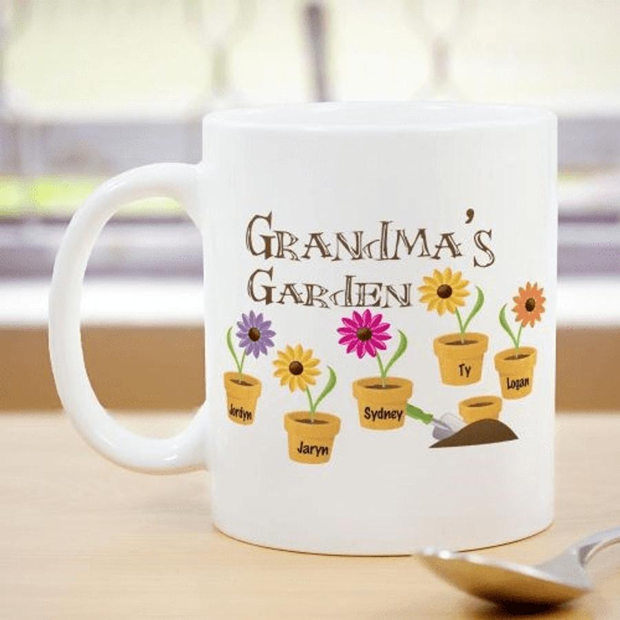 Personalized Mug - Grandma's Garden
