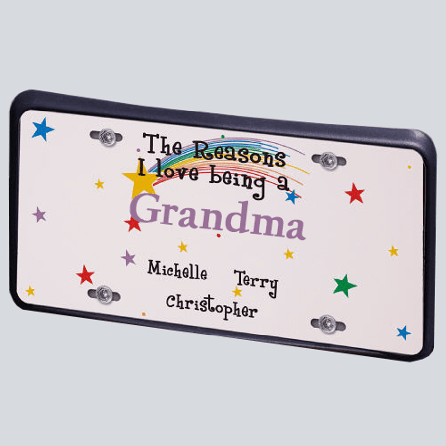 Personalized License Plate for a Special Grandma - Reasons I Love Being A...