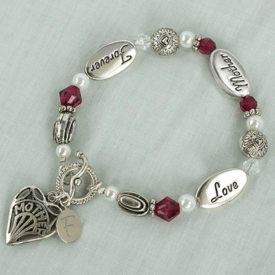 Personalized bracelet for Mother, Love, Forever.