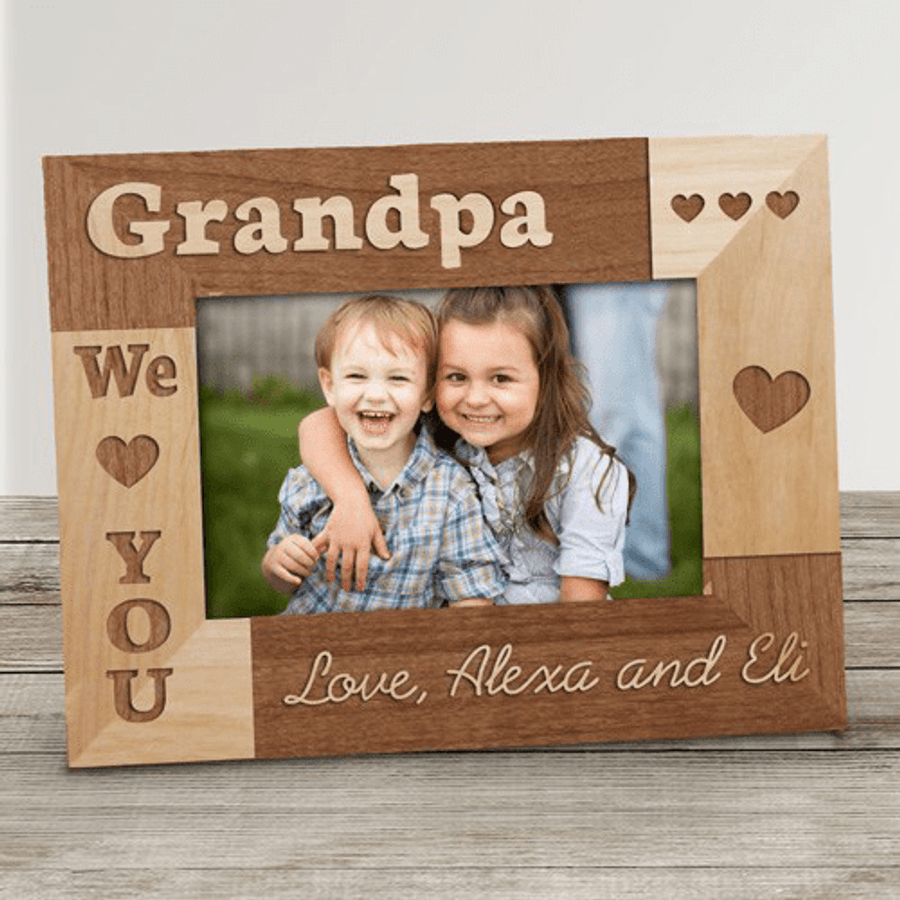 Personalized Grandpa Frame We Love You The Banananana Shoppe