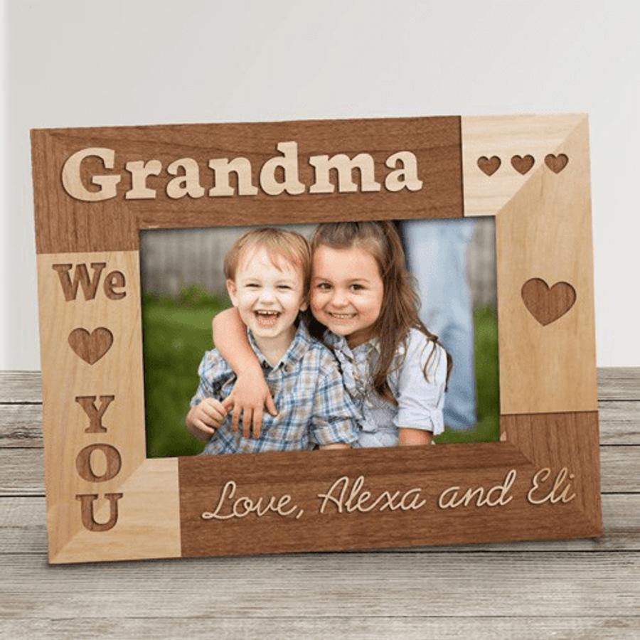 Personalized Grandma Frame We Love You The Banananana Shoppe