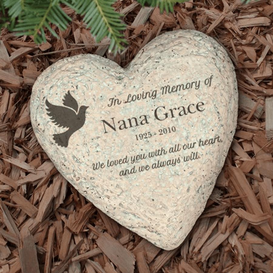 Personalized Memorial Garden Stone for Grandma