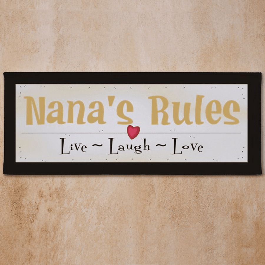 Personalized Grandma Wall Canvas - Live Laugh Love