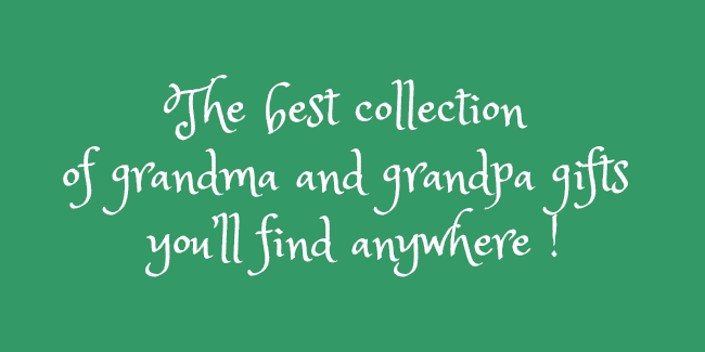 The BananaNana Shoppe has the best collection of grandma and grandpa gifts you'll find anywhere!