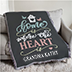 """Personalized Afghan """"We Love You With All Our Hearts"""" for Grandma from The BananaNana Shoppe"""